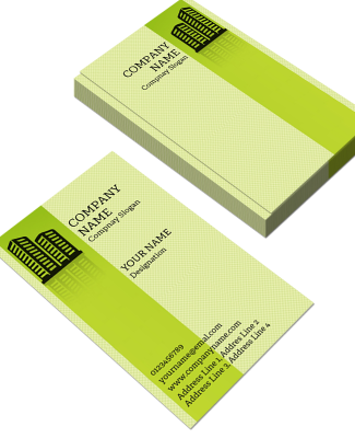 Construction  Vertical Business Card