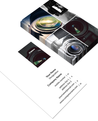Photgrapher Vertical Business Card