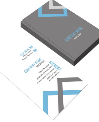 Accountant Vertical Double Side Business Card