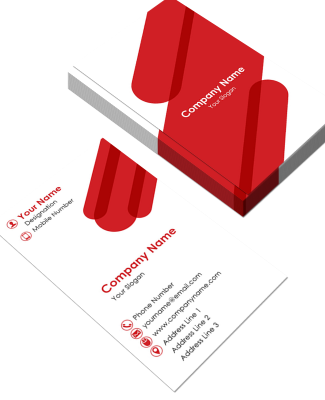 Professional Vertical Double Side Business Card