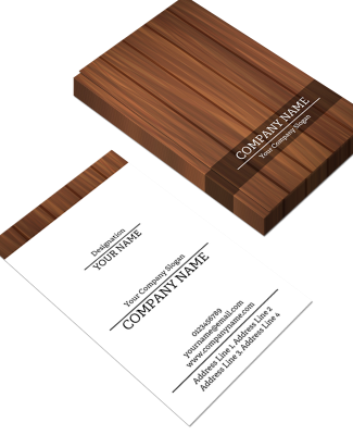 Carpenter Vertical Double Side Business Card
