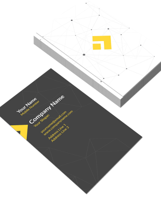 Web Vertical Double Side Business Card