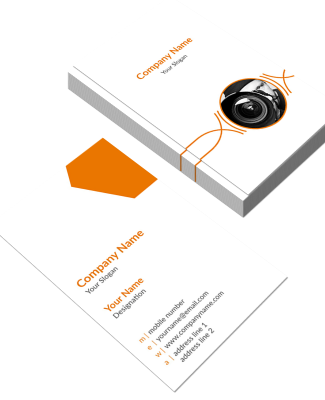 Orange Vertical Double Side Business Card