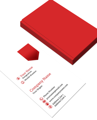Tailor Vertical Double Side Business Card