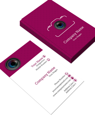 Photographer  Vertical Double Side Business Card