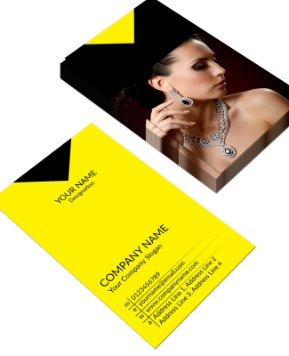 Yellow Vertical Double Side Business Card