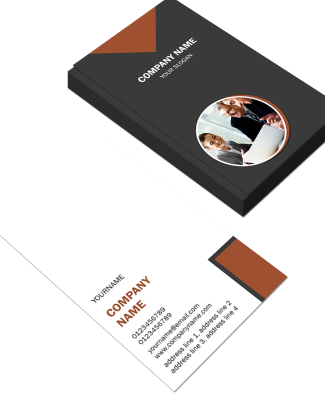 Personaized Vertical Double Side Business Card