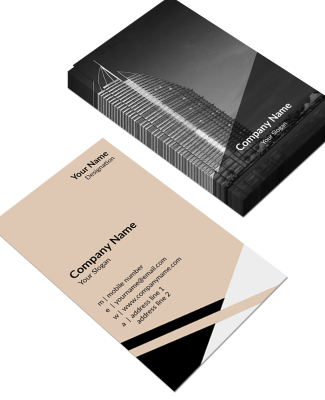 Contractor Vertical Double Side Business Card