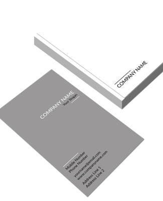Grey Vertical Double Side Business Card