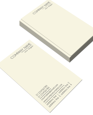 Creamish Vertical Double Side Business Card