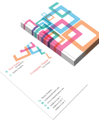 Colorful Pattern Vertical Double Side Business Card