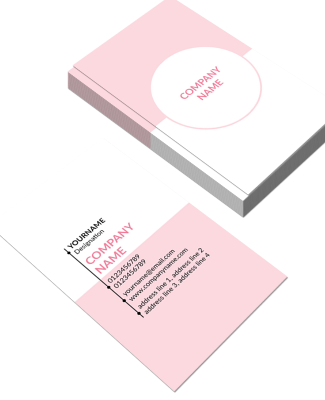 Light Pink Vertical Double Side Business Card