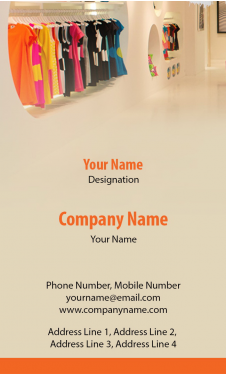Saree Shop Vertical Business Card