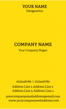 Professional Vertical Business Card