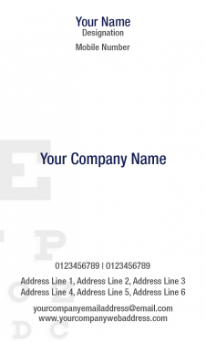 Opthomologist Vertical Business Card