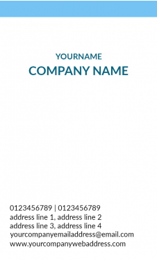 Doctor's Vertical Business Card