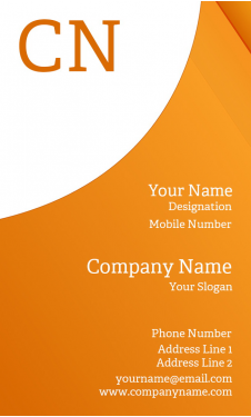 Premium Vertical Business Card