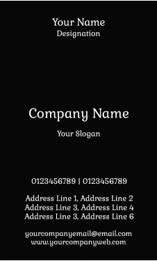 Watch Shop Vertical Business Card