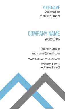 Accountant Vertical Business Card