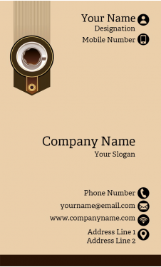 Coffee Shop Vertical Business Card