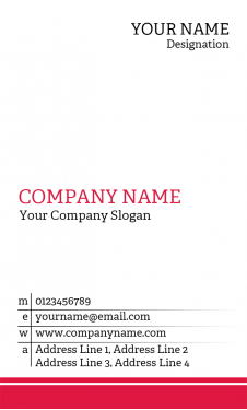 Doctor Vertical Business Card