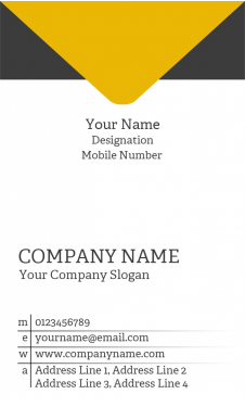 Courier Vertical Business Card