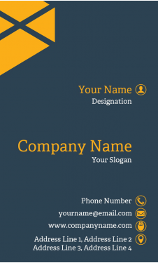 Proffessional Vertical Business Card