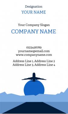 Travel Agency Vertical Business Card