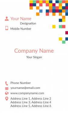 Coloful Pattern Vertical Business Card