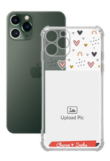 Love Pattern For iPhone 11 Pro Your Photo on Transparent Mobile Cases
