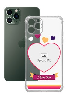 Love Shape images For iPhone 11 Pro Custom Transparent Clear Phone Case