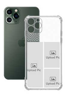 3 images For iPhone 11 Pro Your Photo on Transparent Mobile Cases