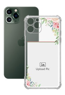 Floral Design Theme For iPhone 11 Pro Your Photo on Transparent Mobile Cases