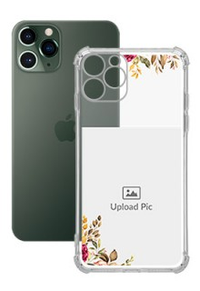 Floral Design For iPhone 11 Pro Custom Transparent Clear Phone Case
