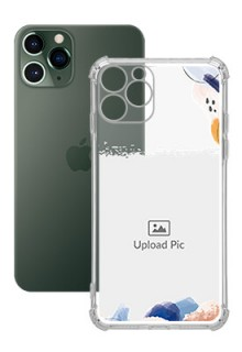 Water Colour Splash For iPhone 11 Pro Your Photo on Transparent Mobile Cases