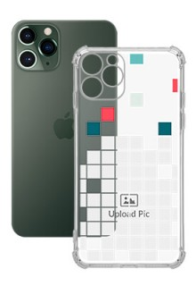 Mosaic Design For iPhone 11 Pro Customized Transparent Mobile Cases