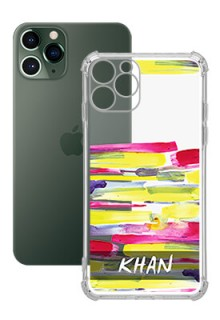 Brush Coloured For iPhone 11 Pro Your Photo on Transparent Mobile Cases