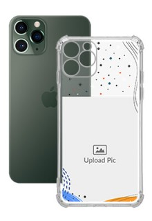 Wave Lines Dotted For iPhone 11 Pro Your Print on Transparent Phone Cases