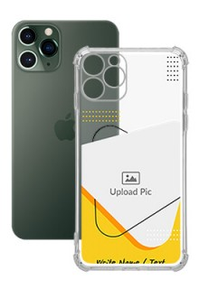 Yellow Triangle For iPhone 11 Pro Your Print on Transparent Mobile Cases