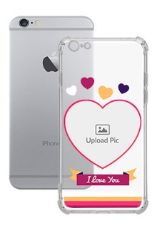 Love Shape images For iPhone 6 Plus Custom Transparent Clear Phone Case
