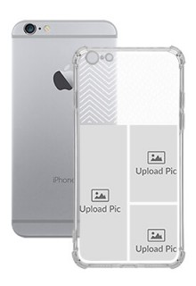3 images For iPhone 6 Plus Your Photo on Transparent Mobile Cases