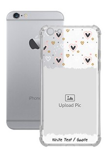 Love Theme For iPhone 6 Plus Personalised Transparent Clear Phone Case