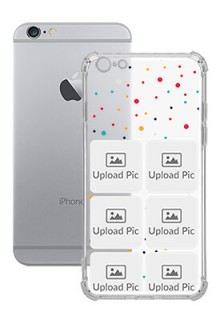 6 images Dotted Design For iPhone 6 Plus Customized Transparent Mobile Cases