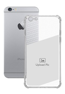 Black Dotted Design with Text For iPhone 6 Plus Personalised Transparent Clear Phone Case