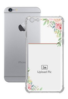 Floral Design Theme For iPhone 6 Plus Your Photo on Transparent Mobile Cases