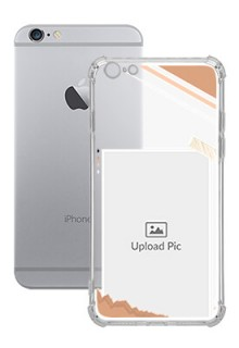 Peach Colour Photo Frame with Name For iPhone 6 Plus Customized Transparent Mobile Cases