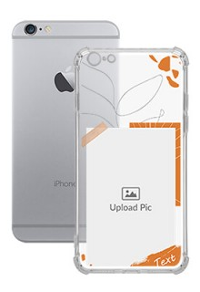 Orange Photo Frame For iPhone 6 Plus Your Photo on Transparent Mobile Cases