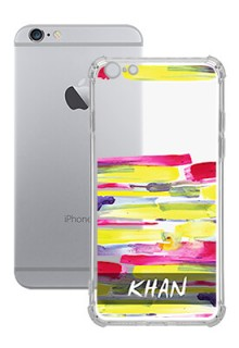 Brush Coloured For iPhone 6 Plus Your Photo on Transparent Mobile Cases
