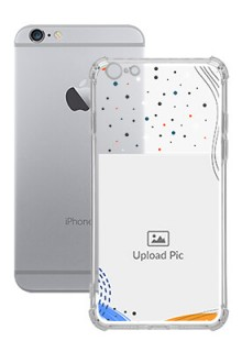 Wave Lines Dotted For iPhone 6 Plus Your Print on Transparent Phone Cases