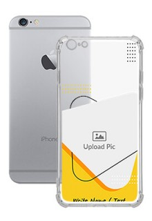 Yellow Triangle For iPhone 6 Plus Your Print on Transparent Mobile Cases